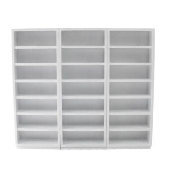 Librero Moderno Blanco Kontempo Moa